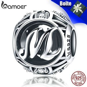 Charm's BAMOER Charms Feemes/Fill Argent 925 Lettre-A Comp