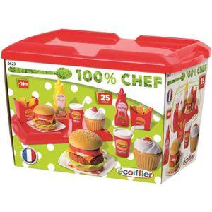 DINETTE - CUISINE ECOIFFIER CHEF Set Hamburger - Cuisine - 2623 - Je