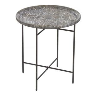 TABLE D'APPOINT Home Decor - Table Auxiliaire Metalique  Arabesque