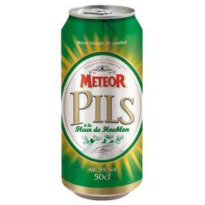 BIÈRE Meteor Pils Blonde 50cl (pack de 12 canettes)
