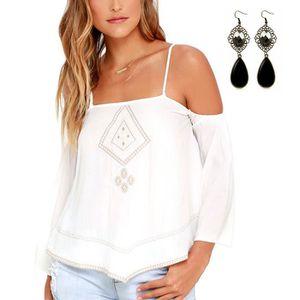 amazing selection shopping new cheap Femmes T-shirt Sans Bretelles En Vrac Blouse Tops Blanc Blanc ...