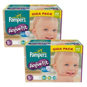 COUCHE Maxi Giga Pack 235 Couches Pampers Active Fit tail