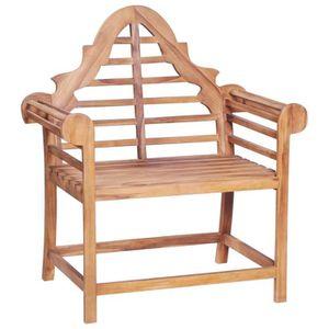 FAUTEUIL JARDIN  Chaise de jardin 89x63x102 cm Teck solide Fauteuil