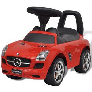 VOITURE ELECTRIQUE ENFANT Mercedes Benz Pousse-pied Voiture enfant rouge Voi