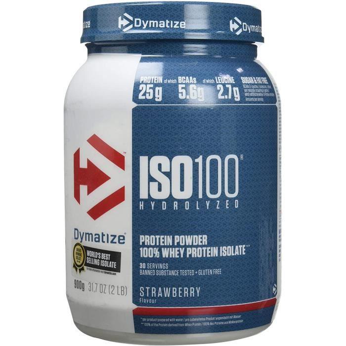 ISO 100 Strawberry 900g - Hydrolysat de Protéines de Whey + Poudre d'Isolat[170]