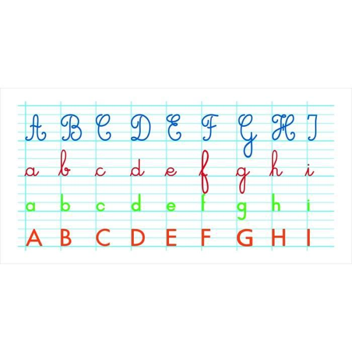 Jouets éducatifs - Tableaux souples effaçables à sec - L 40 x l 80 cm - Frise alphabet 40 cm