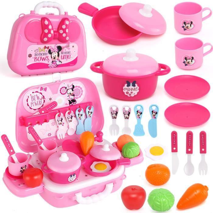 Sac à dos pour jouet de cuisine Disney Minnie pour filles, adapté aux enfants de 3 ans et plus