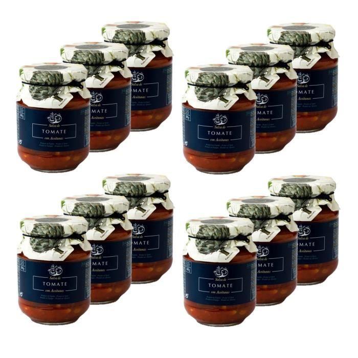 Lot 12x Sauce tomate aux olives - pot 300g