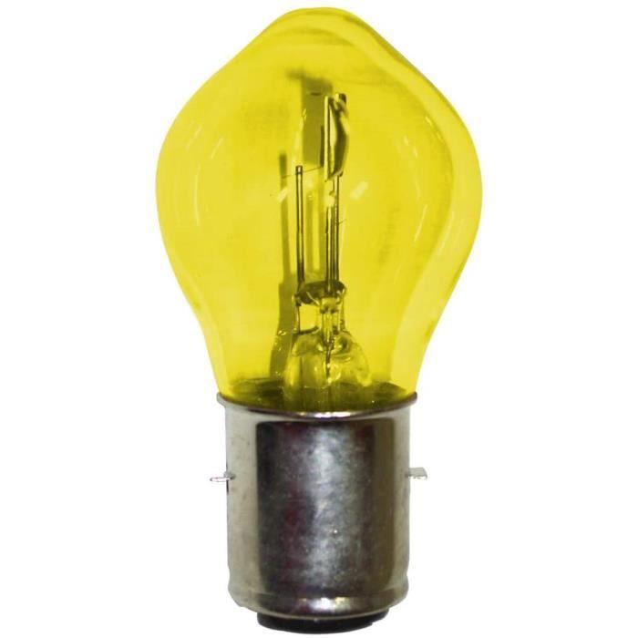 AMPOULE 12V 45/40W BA20D JAUNE TYPE BOSCH HALOGENE VOITURE FEU AVANT PROJECTEUR UNIVERSEL LAMPE PHARE CODE MOTO ECLAIRAGE 45 40 W