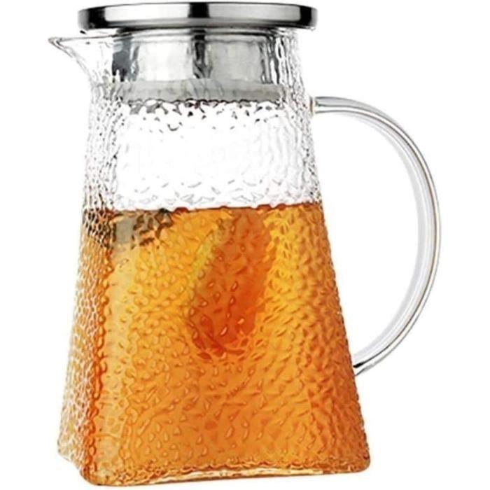 Thebot Cup 1 Litre Jus de Verre Grande capacité Théière Robuste Convient Parfaitement au thé glacé Thé de thé Bouteilles de Lait de