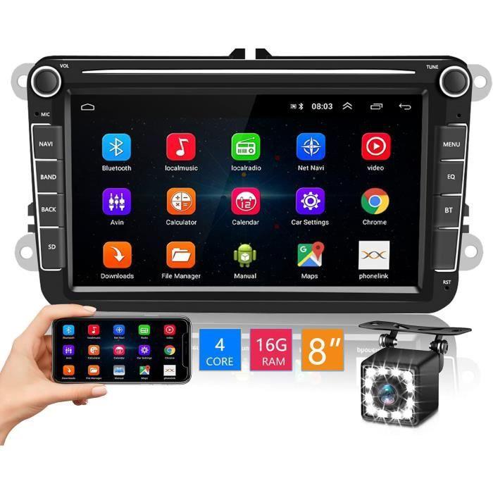 Android Autoradio pour Golf VW Skoda Seat GPS Bluetooth Stéréo De Voiture 8 Pouces Écran Tactile Récepteur FM de Voiture avec[132]