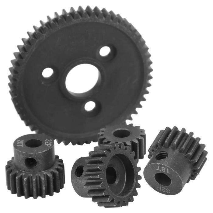 Tbest Ensemble d'engrenages à pignons de moteur à engrenages droits RC Engrenage principal de Diff 54T 16 T 18 T 20 T 21 T 32 P