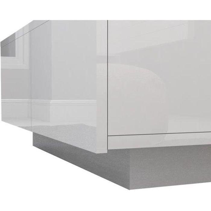 Table basse de salon blanche Grande table basse contemporaine pour bureau à domicile Table basse haute brillance en bois moderne