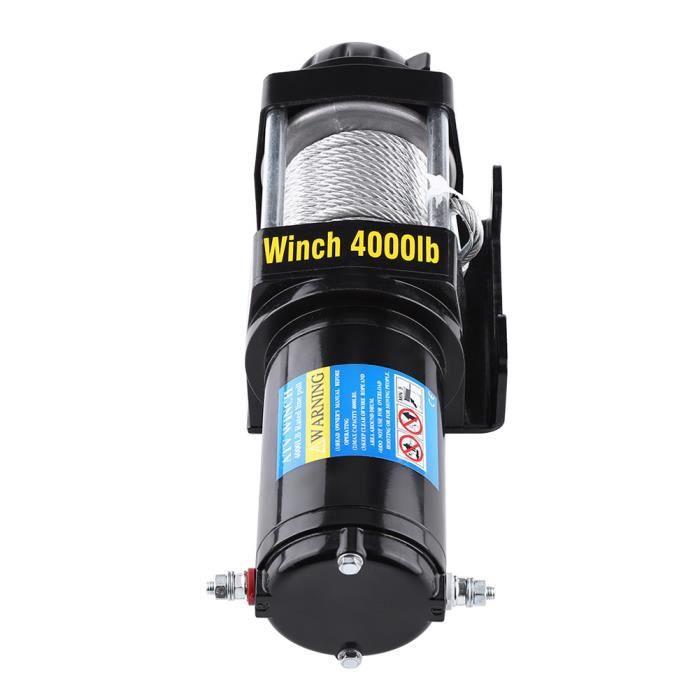 Treuil Électriques 4000lb - Avec poignée de contrôle - Câble en acier de 15 m HB041-VIQ