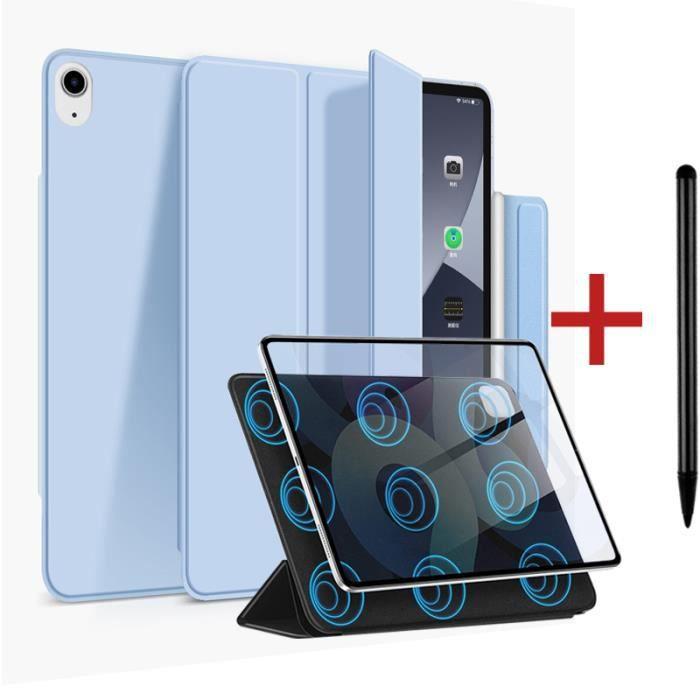 Coque iPad Air 4 2020 [ +Stylet ] Aimant Puissant Rassurant Magnétique Réveil/Sommeil Automatique Housse Case - Bleu