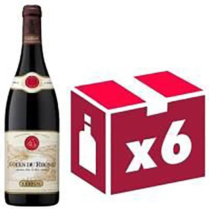 Côtes du Rhône vin rouge 6x75cl Guigal