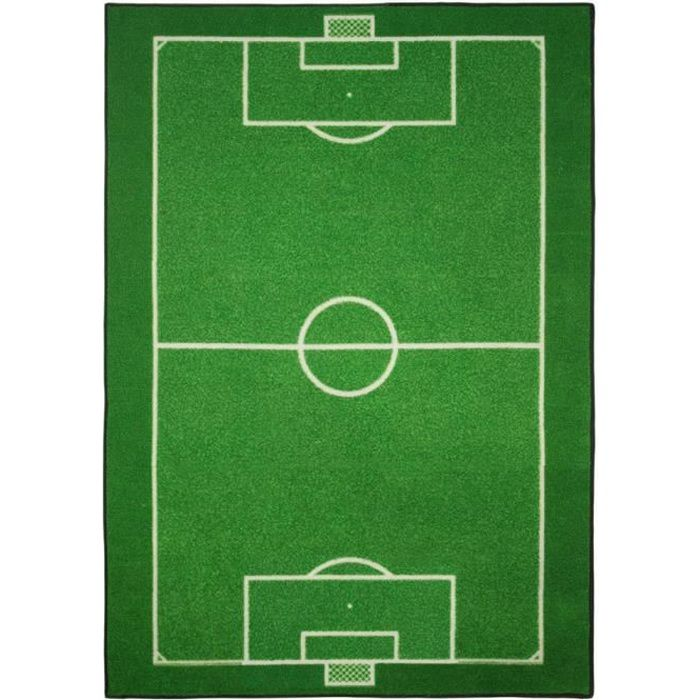 Tapis enfant Terrain de Football 133 x 95 cm chambre Foot GUIZMAX