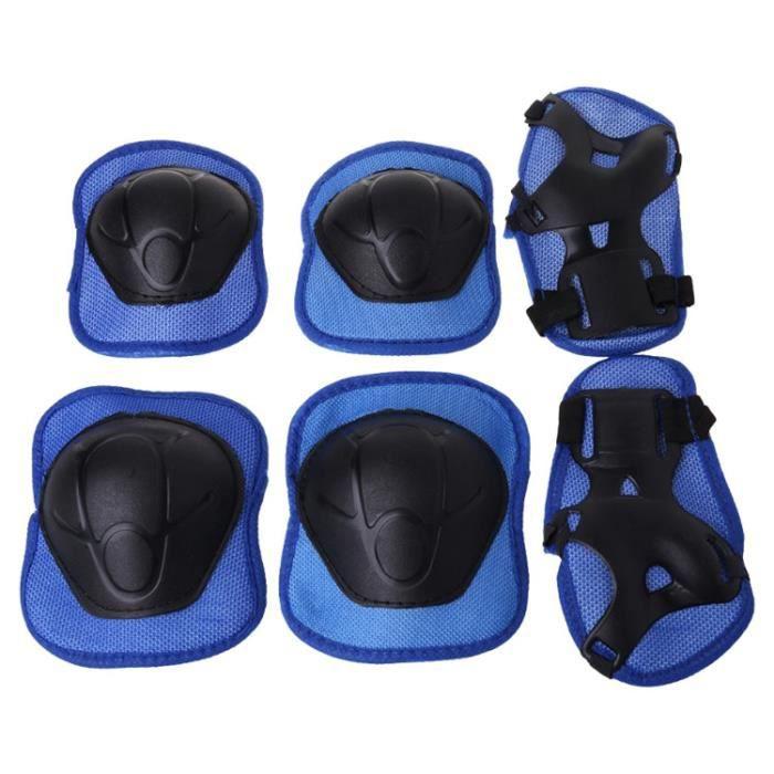 PROTEGE-CHEVILLES - CHEVILLERE,Enfants genouillères cyclisme patinage protection extérieure coude garde Scooter enfants - Type Bleu
