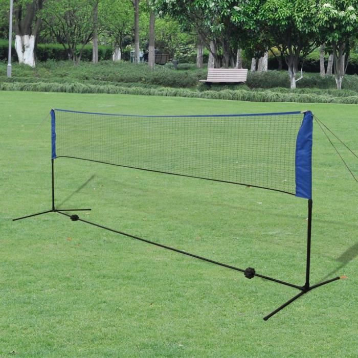 Filet de badminton avec volants 300 x 155 cm