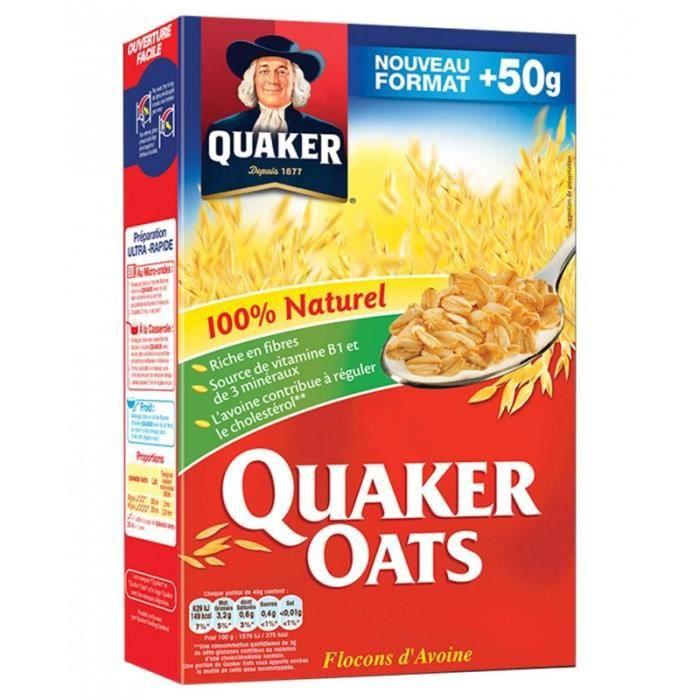 Quaker Oats Flocons d'Avoine 100% Naturel 550g (lot de 4)