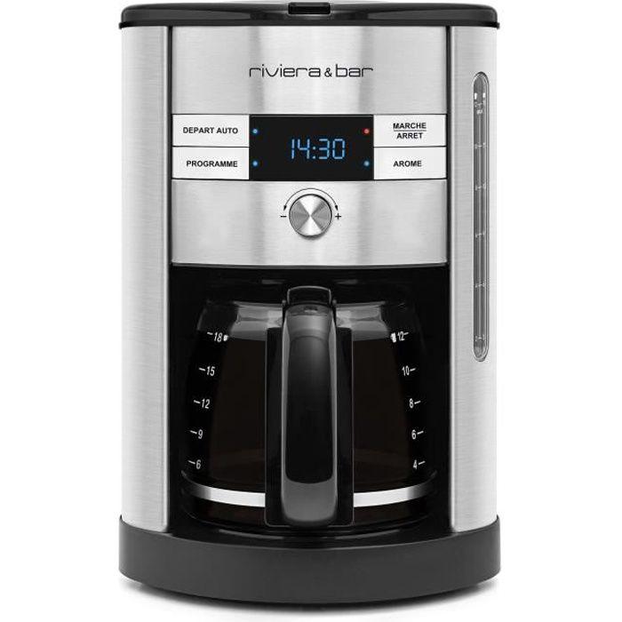 RIVIERA&BAR CF540A Cafetière filtre programmable - Inox