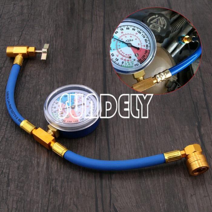 Sundely x1 GM Kit de mesure de recharge de réfrigérant pour climatiseur automatique, manomètre R134A 488196