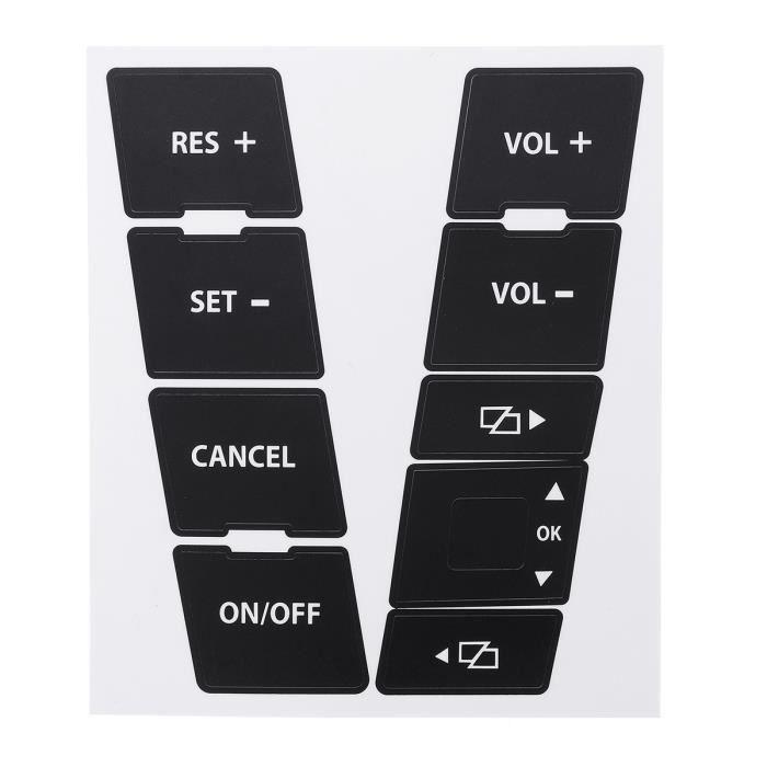 Kit Autocollant de Voiture de Volant Bouton Sticker Pour VW Volkswagen Touareg 2004–2009