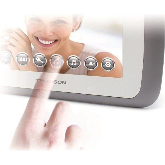 THOMSON Interphone vidéo écran tactile couleur 7-