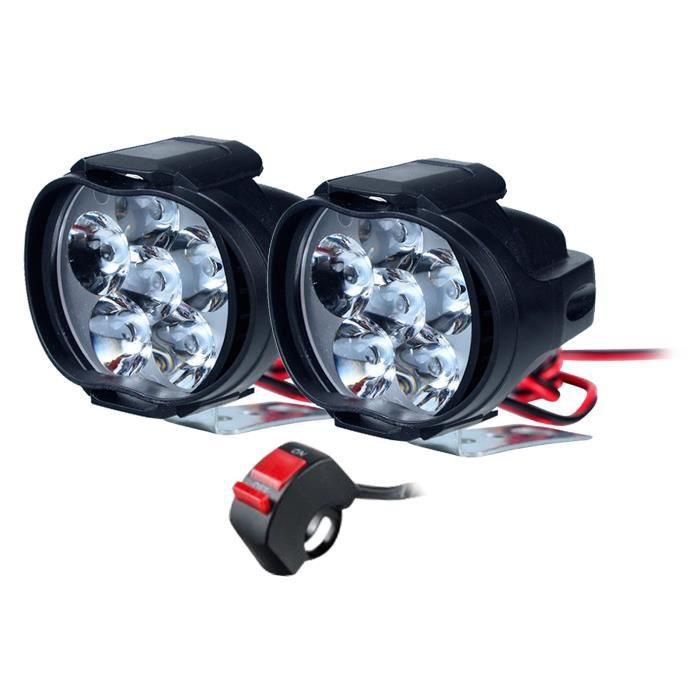 Projecteur LED Hors Route Moto Dirt Bike Fog Driving Work Lights Phare étanche kowaku1