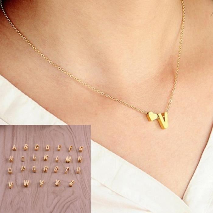 collier ras de cou lettres