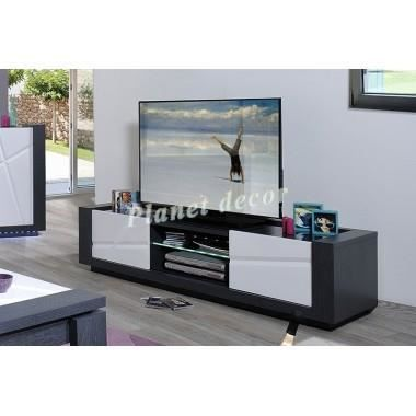 meuble tv lumineux contemporain achat vente. Black Bedroom Furniture Sets. Home Design Ideas