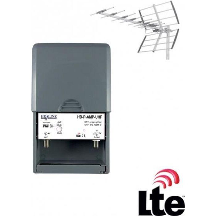 REPETEUR DE SIGNAL HD-LINE Préamplificateur de mât UHF terrestre TNT