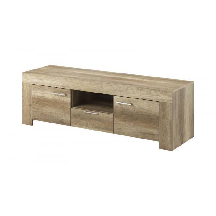 bobochic meuble tele skyline chene blanchi chene