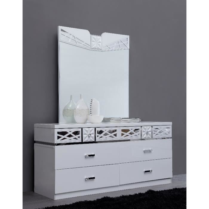 Commode design de la collection vaid miroir inclus blanc for Collection miroir