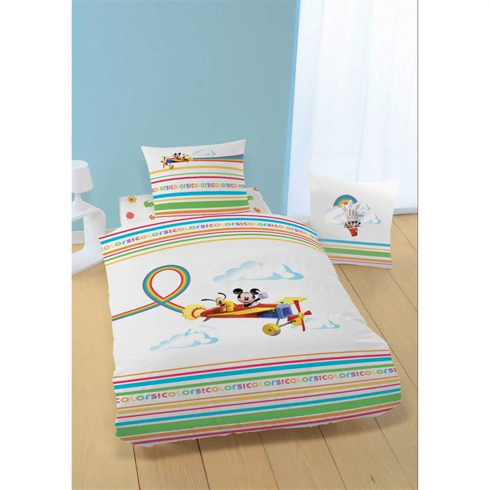 couette mickey. Black Bedroom Furniture Sets. Home Design Ideas