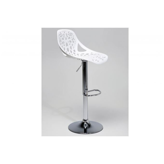 tabouret de bar blanc r glable. Black Bedroom Furniture Sets. Home Design Ideas