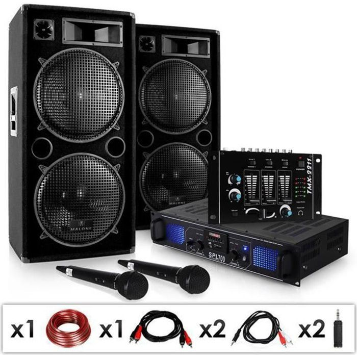 Electronic Star Pack Sono Quot Dj 20 1 Quot Set Disco Complet