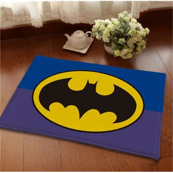 batman tapis de salon shaggy 80mm 40x60 cm achat vente tapis cdiscount. Black Bedroom Furniture Sets. Home Design Ideas