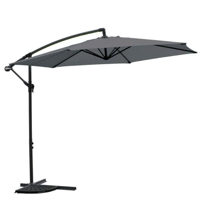 parasol d port 3m achat vente parasol ombrage. Black Bedroom Furniture Sets. Home Design Ideas