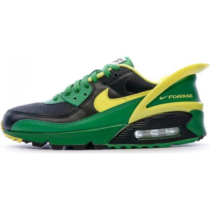 AIR MAX 90 Baskets vert/jaune homme Flyease