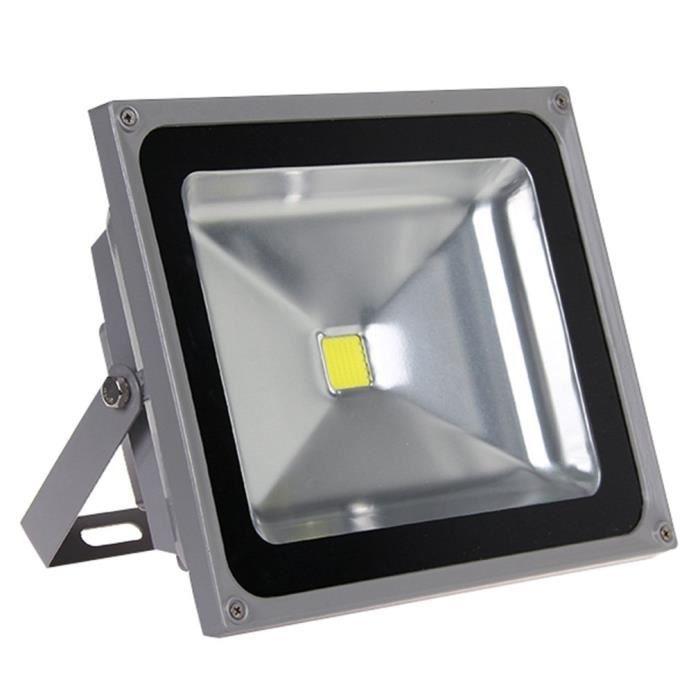 2x 50 W DEL de avec connecteur Projecteur Puissant Extérieur Projecteurs SMD lampe de jardin blanc chaud