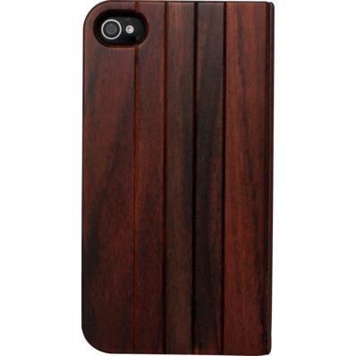 P) Coque Clapet pour Apple iPhone 4-4S, Bois Naturel de Rosewood ...