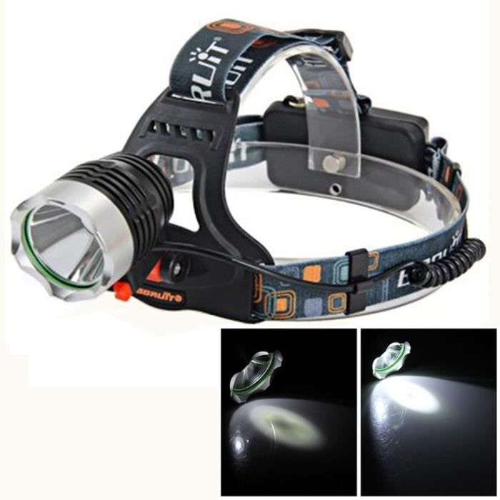 Lampe Frontale Led Cree Xm L L2 1200lm Lumiere Blanche 3 Mode