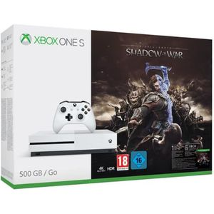 CONSOLE XBOX ONE Xbox One S 500 Go Shadow of War