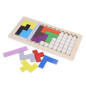JEU D'APPRENTISSAGE Tetris Puzzle Bois Jeu éducatif De Jeux de Plateau