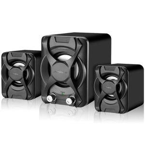 ENCEINTE NOMADE 3PCS K2 Enceinte LED Bluetooth USB Caisson de bass