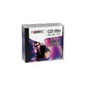 CD - DVD VIERGE EMTEC - 5 x CD-RW - 700 Mo ( 80 min ) 4x - 12x …