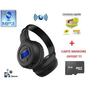 casque sans fil avec lecteur mp3 integre radio fm. Black Bedroom Furniture Sets. Home Design Ideas