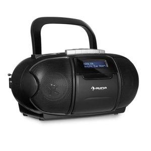RADIO CD CASSETTE auna BeeBoy DAB Boombox Radio portable lecteur K7
