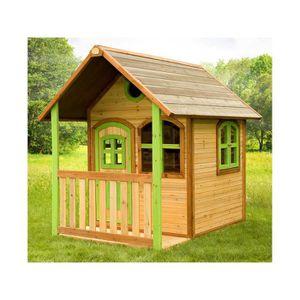 MAISONNETTE EXTÉRIEURE Maison enfant exterieur en bois Alex- 2.06 m² - 1.